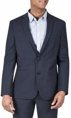 Kenneth Cole Reaction Techni-Cole Micro Grid Flex Suit Jacket