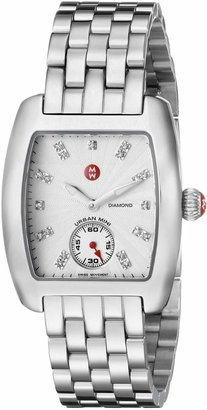 Michele Women's MWW02A000502 Urban Mini Analog Display Swiss Quartz Silver Watch