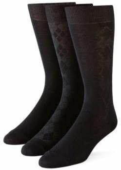Calvin Klein Mens 3-Pack Bamboo Socks