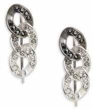 Karl Lagerfeld Paris Essentials Crystal and Jet Hematite Crystal Ombre Chain Crawler Earrings