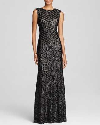 Vera Wang Sleeveless Sequin Embellished Gown - Bloomingdale's Exclusive $410 thestylecure.com
