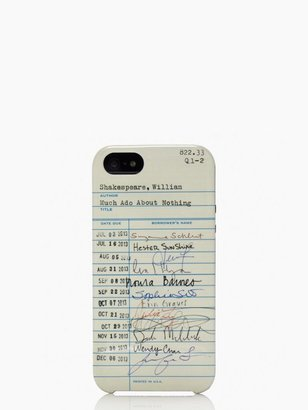 Kate Spade Library card resin iphone 5 case