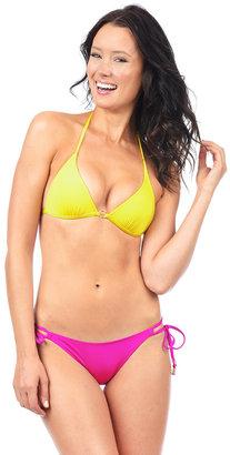 Voda Swim - Yellow/Magenta Hoop String Bikini Bottom $57 thestylecure.com