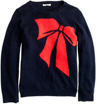 J.Crew Girls' ribbon bow popover