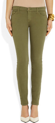 Current/Elliott The Ankle Skinny low-rise jeans