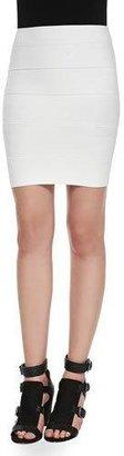 BCBGMAXAZRIA Simone Bandage Pencil Skirt, White Gardenia $138 thestylecure.com