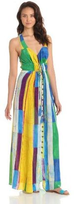 Plenty by Tracy Reese Women's Cubist Watercolor Maxi Dress