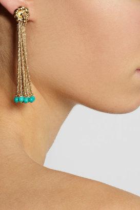 Aurelie Bidermann Palazzo gold-plated turquoise clip earrings