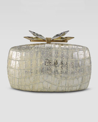Judith Leiber Overture Avery Soft Embossed Clutch Bag, Gold