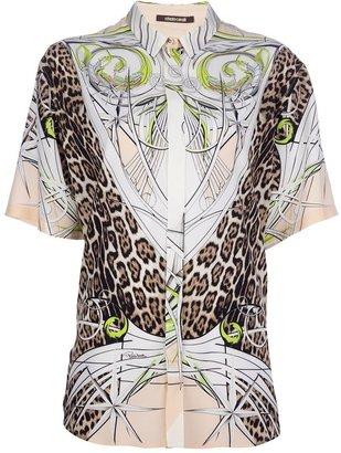 Roberto Cavalli printed shirt dress