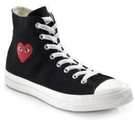 Comme Des Garcons Play High-Top Canvas Sneakers