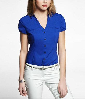Express Short Sleeve Double Collar Essential Shirt