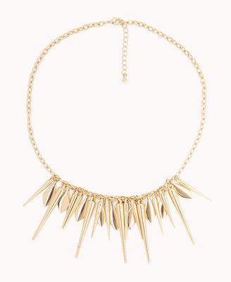 Forever 21 Spiked Fringe Necklace