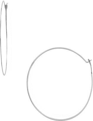 Michael Kors Whisper Medium Hoop Earrings, Silver-Color