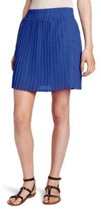 Necessary Objects Women's Pleated Mini Skirt