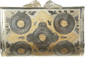 Topshop Silver Shanghai Print Metal Box Bag