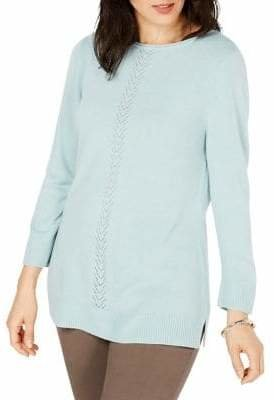 Karen Scott Luxsoft Pointelle Sweater