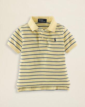 Ralph Lauren Infant Boys' Striped Mesh Polo - Sizes 9-24 Months