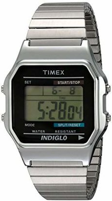 Timex Men's T78582 Classic Digital Stainless Steel Expansion Band Watch