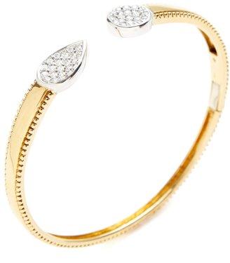 0.50 Total Ct. Diamond Teardrop & Circle Cuff Bracelet