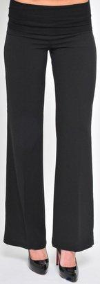 Olian Career Pants, Wide Leg - Black-Small