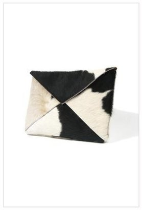 Grey Sunshine Large Montrose Clutch in Black and White