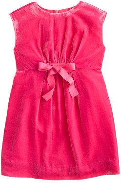 J.Crew Girls' drapey velvet dress