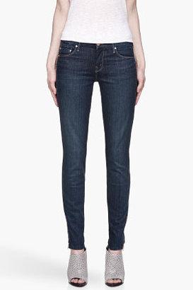 Mother Deep indigo The Looker Zipped cuff jeans