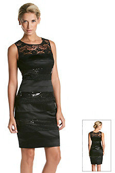 Jax Lace And Sequin Banded Dress