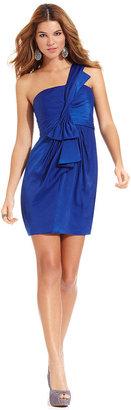 BCBGMAXAZRIA Dress, One Shoulder Draped
