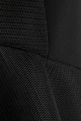 DKNY Mesh-paneled scuba mini dress
