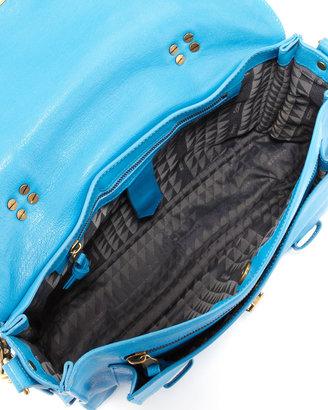 Proenza Schouler PS1 Medium Leather Satchel Bag, Rip Tide