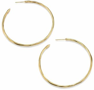 Ippolita Classico Medium 18K Yellow Gold Faceted Hoop Earrings