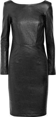 Karl Lagerfeld Dahli faux leather dress