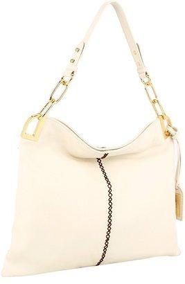 Badgley Mischka Gaia Pebble Shoulder (Cream) - Bags and Luggage
