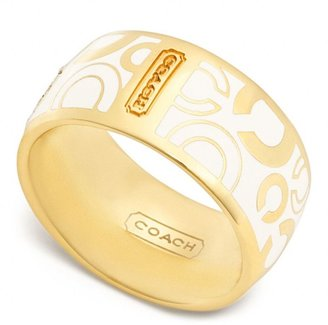 Coach Pave Op Art Ring
