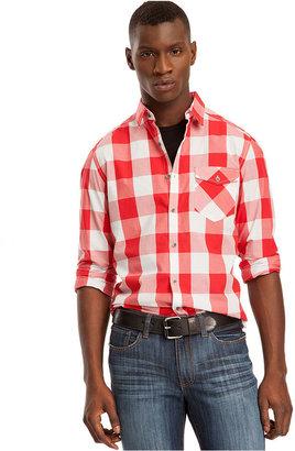 Kenneth Cole Reaction Shirt, Long Sleeve Buffalo Check Shirt