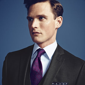 Charles Tyrwhitt Charcoal Clarendon twill Slim fit business suit