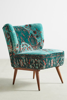 Anthropologie Dhurrie Petite Accent Chair By in Blue