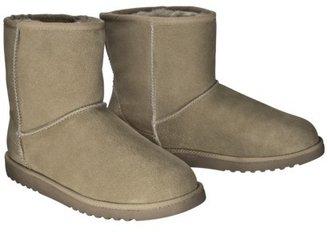 Xhilaration Women's Kalina Genuine Suede Shearling Style Boot - Tan