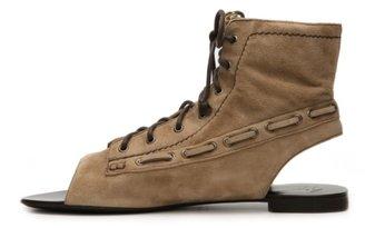 Giuseppe Zanotti Suede Gladiator Flat Sandal