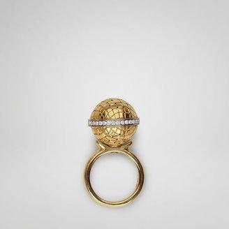 Bottega Veneta Gold diamond sfera ring