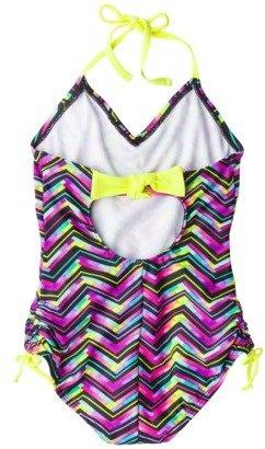 Xhilaration Girls' 1-Piece Swimsuit - Purple
