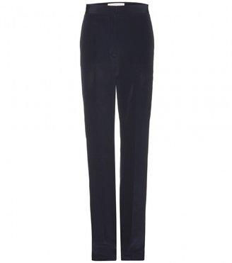 Stella McCartney Felice silk-crepe straight-leg trousers