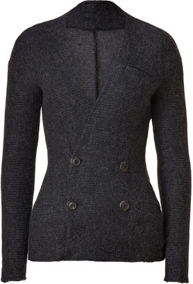 See by Chloe Grey Heather Wool-Mohair Blend Knit Jacket