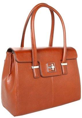 Helena KNOMO London Flap Shoulder 13 Laptop Bag (Black) - Bags and Luggage