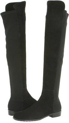 Stuart Weitzman 5050 (Black Suede) - Footwear