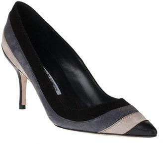 Manolo Blahnik Yohy striped suede pump