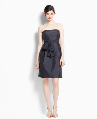 Ann Taylor Silk Dupioni Strapless Bridesmaid Dress