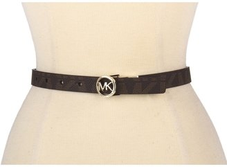 MICHAEL Michael Kors Michael Kors 20MM Reversible With MK Logo Plaque (Luggage) - Apparel
